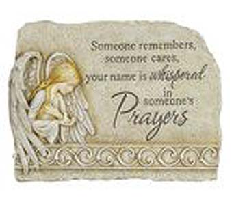 Carson Stone Prayers Stone Sm. w/stand in Greenfield IN, Penny's Florist Shop, Inc.