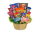 SWEETS IN BLOOM SNACK ATTACK BASKET in Glendale AZ, Blooming Bouquets
