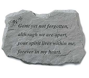 Memory Stone Gone Yet Not Forgotten in Crafton PA, Sisters Floral Designs