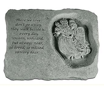 Memory Stone Angel Right Side in Crafton PA, Sisters Floral Designs