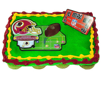 Redskins Cupcake Cake in Baltimore MD, Raimondi's Flowers & Fruit Baskets