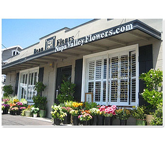 This is our shop in the beautiful Napa Valley in Napa CA, Beau Fleurs Napa Valley Flowers