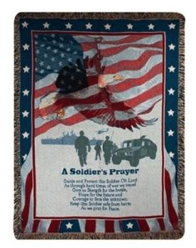 A Soldier's Prayer Tapestry Throw in Niles OH, Connelly's Flowers