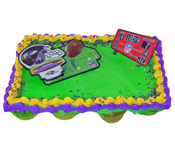 Baltimore Raven''s Cupcake Cake in Baltimore MD, Raimondi's Flowers & Fruit Baskets