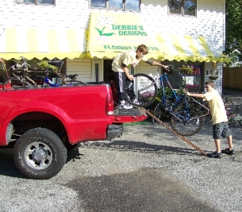 loading bikes in Crown Point IN, Debbie's Designs