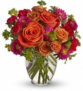 How Sweet It Is in Austintown OH, Crystal Vase Florist