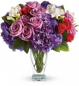 Teleflora's Rhapsody in Purple in West Los Angeles CA, Sharon Flower Design