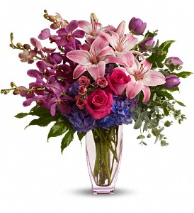 Teleflora's Purple Perfection in Warwick RI, Yard Works Floral, Gift & Garden