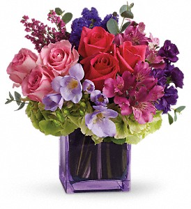 Exquisite Beauty by Teleflora in Austintown OH, Crystal Vase Florist