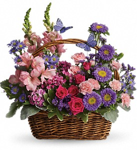 Country Basket Blooms in Marco Island FL, China Rose Florist