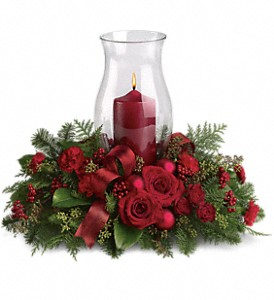 Holiday Glow Centerpiece in Dubuque IA, New White Florist