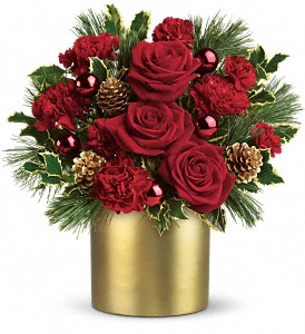 Teleflora's Holiday Elegance in Flint MI, Curtis Flower Shop