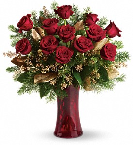A Christmas Dozen in New Lenox IL, Bella Fiori Flower Shop Inc.