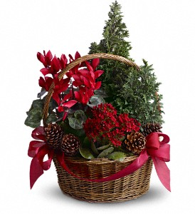Tannenbaum Basket in East Quogue NY, Roses And Rice