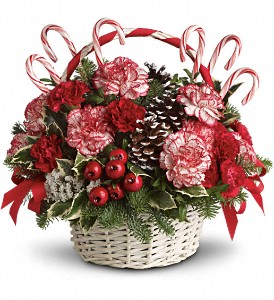 Candy Cane Christmas in Visalia CA, Flowers by Peter Perkens Flowers Inc.