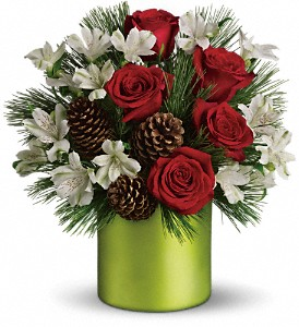 Teleflora's Christmas Cheer Bouquet in San Angelo TX, Bouquets Unique Florist