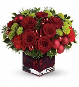 Teleflora's Merry & Bright in Pleasanton CA, Bloomies On Main LLC