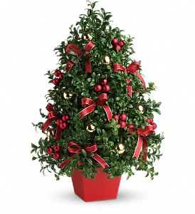 Deck the Halls Tree in New York NY, Fellan Florists Floral Galleria