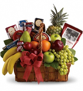 Bon Vivant Gourmet Basket in Hartford WI, Design Originals Floral