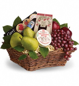 Delicious Delights Basket in Mount Morris MI, June's Floral Company & Fruit Bouquets