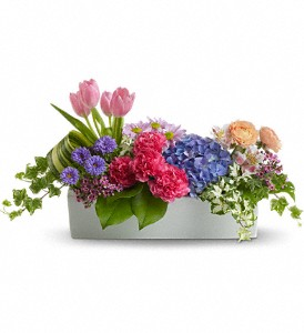 Garden Party Centerpiece in flower shops MD, Flowers on Base