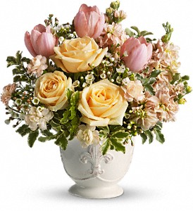 Teleflora's Peaches and Dreams in Merrick NY, Flowers By Voegler