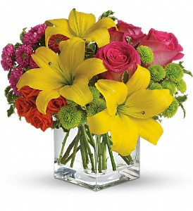 Teleflora's Sunsplash in Austintown OH, Crystal Vase Florist