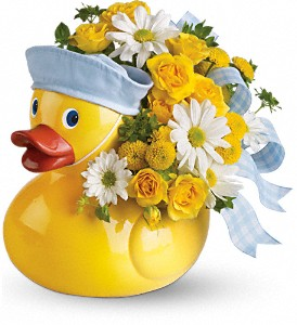 Teleflora's Ducky Delight - Boy in Oakland MD, Green Acres Flower Basket
