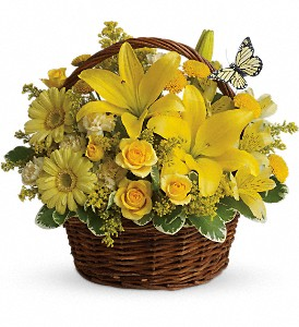 Basket Full of Wishes in Fontana CA, Mullens Flowers