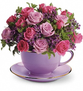 Teleflora's Cup of Roses Bouquet in Northumberland PA, Graceful Blossoms