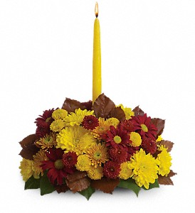 Harvest Happiness Centerpiece in Oklahoma City OK, Capitol Hill Florist & Gifts