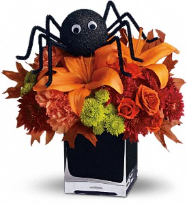 Teleflora's Spooky Sweet in North Syracuse NY, The Curious Rose Floral Designs