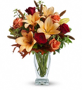 Teleflora's Fall Fantasia in Carol Stream IL, Fresh & Silk Flowers