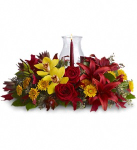 Glow of Gratitude Centerpiece in Saratoga Springs NY, Dehn's Flowers & Greenhouses, Inc