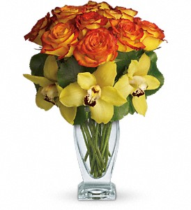 Teleflora's Aloha Sunset in Dallas TX, Petals & Stems Florist