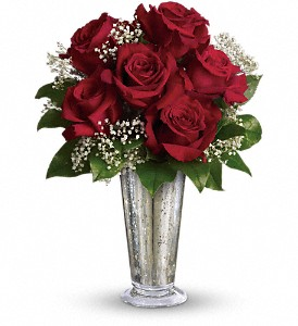 Teleflora's Kiss of the Rose in New Milford PA, Forever Bouquets By Judy