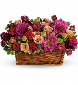 Burst of Beauty Basket in Columbus OH, OSUFLOWERS .COM