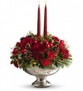 Teleflora's Mercury Glass Bowl Bouquet in Plymouth MI, Ribar Floral Company