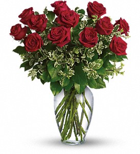 Always on My Mind - Long Stemmed Red Roses in Austintown OH, Crystal Vase Florist