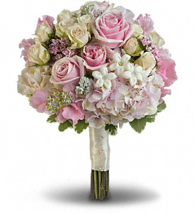 Pink Rose Splendor Bouquet in Ontario CA, Rogers Flower Shop