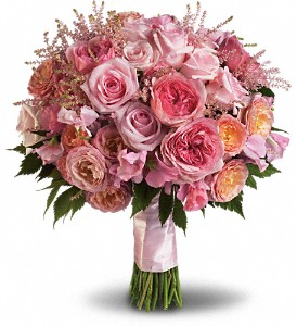 Pink Rose Garden Bouquet in Boston MA, Exotic Flowers