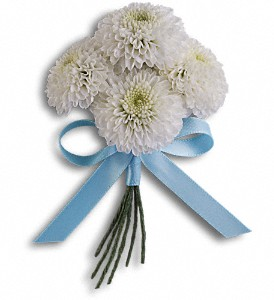 Country Romance Boutonniere in Aston PA, Minutella's Florist