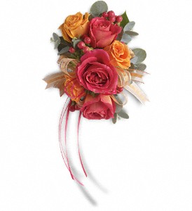Sunset Beauty Wristlet in Philadelphia PA, Rose 4 U Florist