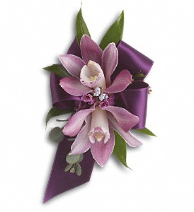 Exquisite Orchid Wristlet in Riverside CA, Mullens Flowers