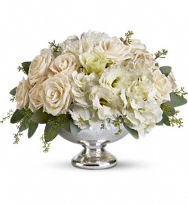 Teleflora's Park Avenue Centerpiece in Houston TX, Village Greenery & Flowers