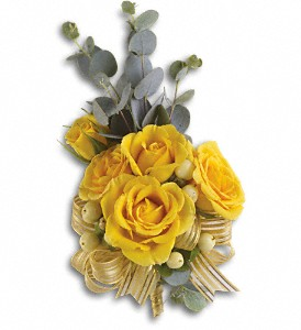 Sunswept Corsage in Salt Lake City UT, Huddart Floral