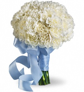 Sweet White Bouquet in Aston PA, Minutella's Florist