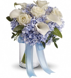 Love in Blue Bouquet in Ontario CA, Rogers Flower Shop