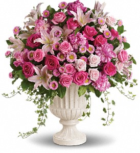 Passionate Pink Garden Arrangement in Cambridge NY, Garden Shop Florist