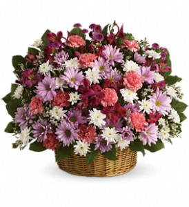 Rainbow Reflections Basket in San Mateo CA, Dana's Flower Basket<br>650-571-5251
